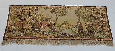 Vintage French Beautiful Scene Tapestry 66x184cm T422