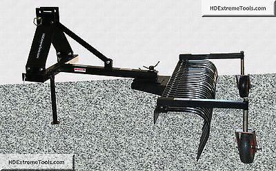 HDExtremeTools 6' Landscape Rake with Automatic Built in Float