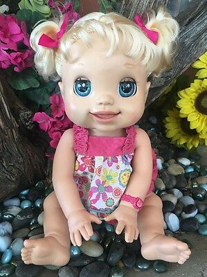 2009 Baby Alive Doll MY REAL BABY Soft Face  RARE Blonde Blue Eyes Interactive