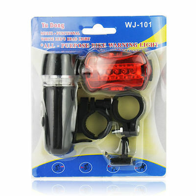 Led Bicycl Bike Head Light Insten Lamp Rear 5 Front Safety Flashlight And Tail
