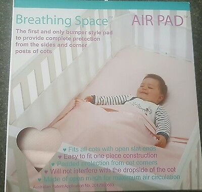 Baby Air Pad Cot Wrap Bumper Pink 4 sided