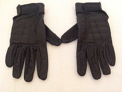 Harley Davidson Women's Black Leather Gloves Size M