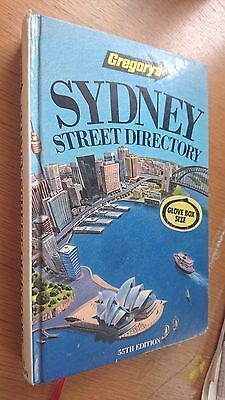 gregorys SYDNEY STREEY DIRECTORY 55th edition  1990 (hardcover)