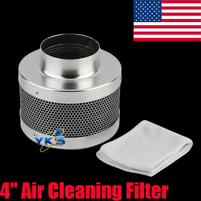 """4"""" Carbon Charcoal Filter Odor Control Scrubber Fit Grow Light Tent Fan US VP"""