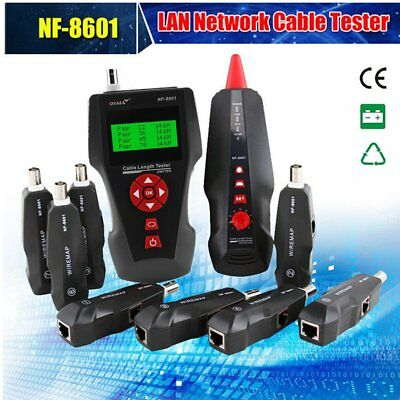 NF-8601W Multifunctional Network Cable Tester LCD Cable Wire Length Tester HM