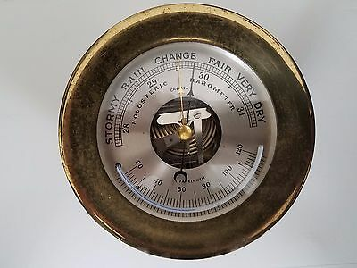 Antique Chelsea Brass Holosteric Barometer  (serial # 12 61)