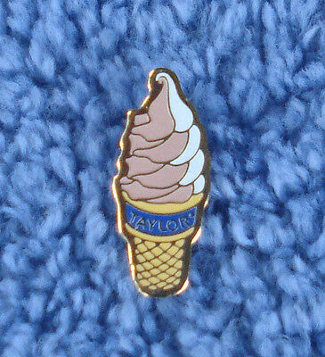 """Vintage Mcdonald's 3/4"""" Advertising Ice Cream Pin For Taylor Farms """"taylor"""""""