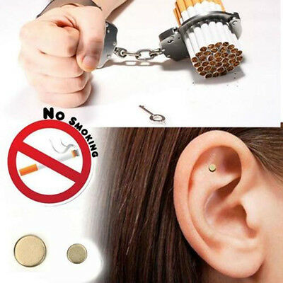Quit Stop Smoking Ear Magnet Cigarettes Hot Magnetic ear Acupressure Zero Smoke
