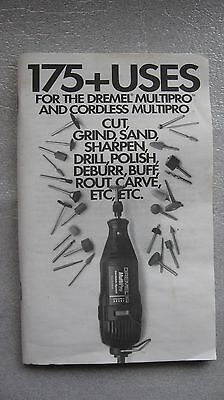 Dremel Moto-Tool Booklet, 175 Uses 1995