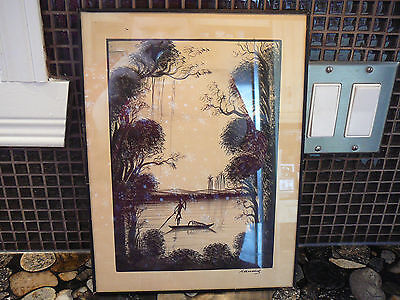 1979 INK DRAWING signed by artist  MUANDA ZAIRE SUMMER