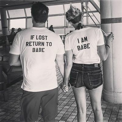 Lover Couple Short Sleeve T-Shirt Matching Shirts Couple Clothes Tops Tees