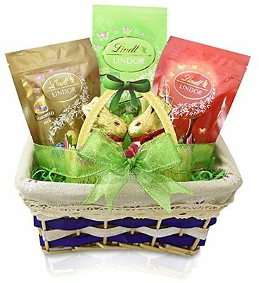 Gift universe lindt easter gift basket lindt easter gold bunny 7 gift universe easter gift basket with lindt milk white chocolate truffles negle Gallery