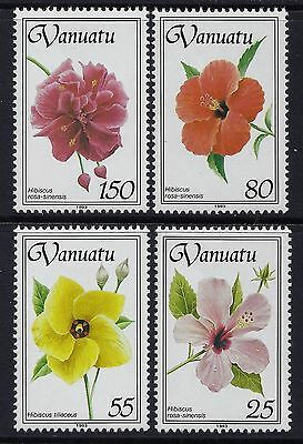 1993 Vanuatu Hibiscus Part I Set Of 4 Fine Mint Mnh/muh