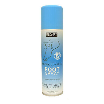 Beauty Formulas Odour Control Foot Spray Anti-Fungal & Anti-Bacterial 150 Ml