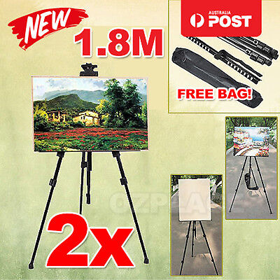 2x Tripod Painting Artist Easel Display Stand Drawing Board Art Sketch Folding