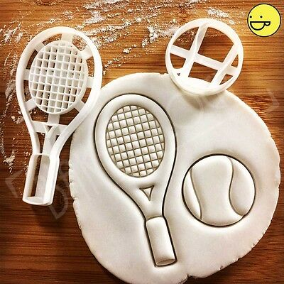 Tennis Racket and Ball cookie cutter | wimbledon grand slam game biscuit