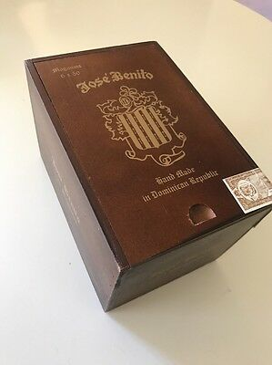 Jose Benito Wood Cigar Box 25 Magnums Empty