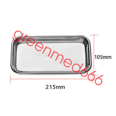 1PC Dental Stainless Steel surgical Medical Tray dentistry Lab tool High Quality