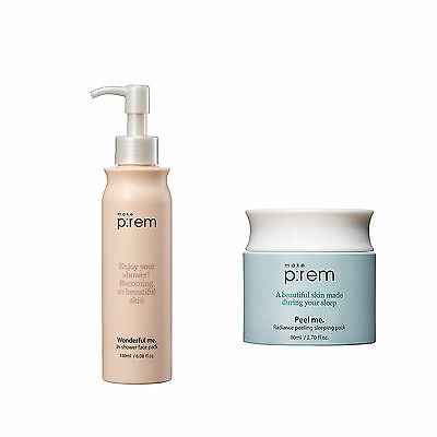[MAKE P:REM] wonderful me. in-shower face pack + radiance peeling sleeping pack