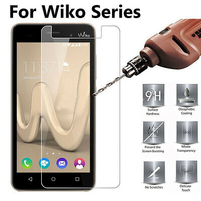 2.5D 0.3mm 9H Premium Tempered Glass Screen Protector Film Cover For Wiko Series