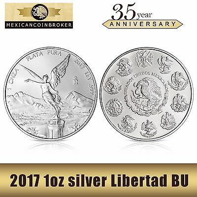 2017 1oz silver Libertad BU  *Treasure Coin of Mexico™* FREE CAPSULE