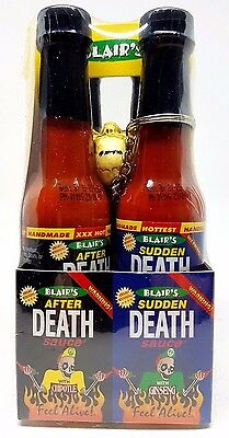 903736 4 x 60mL BOTTLE OF BLAIR'S DEATH SAUCES - FEEL ALIVE!