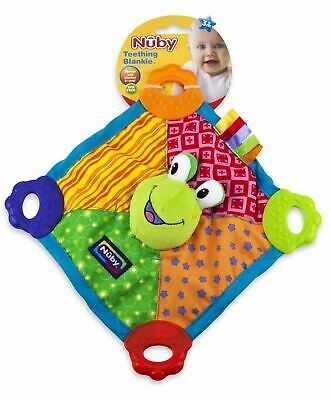 Nuby Teething Blankie 0m+ 1 2 3 6 12 Packs