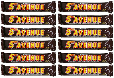 907902 12 x 56g BARS OF 5TH AVENUE CRUNCHY PEANUT BUTTER IN CHOCOLATE COATING!