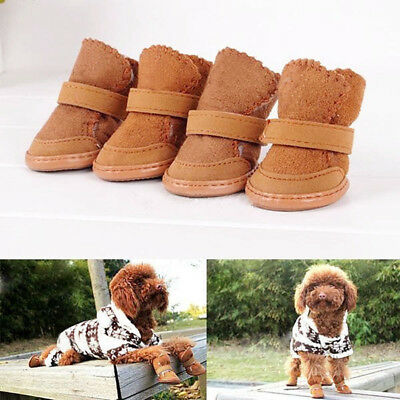 Winter Anti-Slip Small Dog Boots Puppy Shoes Pet Dog Protective Snow Booties