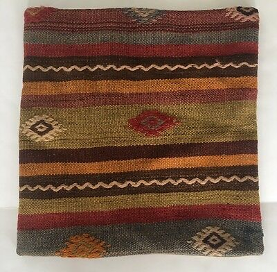 Turkish rug pillow cover 18 x 18 gorgeous!