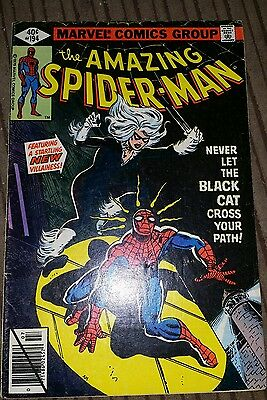 AMAZING SPIDER-MAN #194_JULY 1979_F/VF_1st APPEARANCE BLACK CAT_BRONZE AGE!