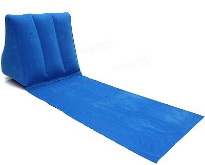 Outdoor PVC Inflatable Camping Back Pillow Cushion Chair Travel Lounge Mat Pad