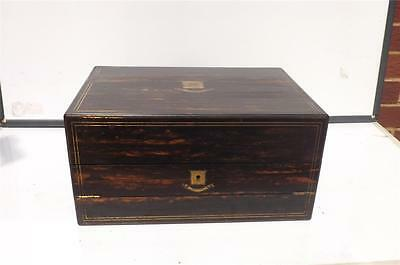 Writing Box of Distiction in Coromandle wood comes with key Victorian, FBS