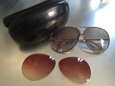 occhiali da sole vintage Carrera Porche Design sunglasses + Replacement Lens