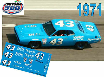 CD_DC-1971  #43 Richard Petty  1971 Plymouth 1:24 scale decals