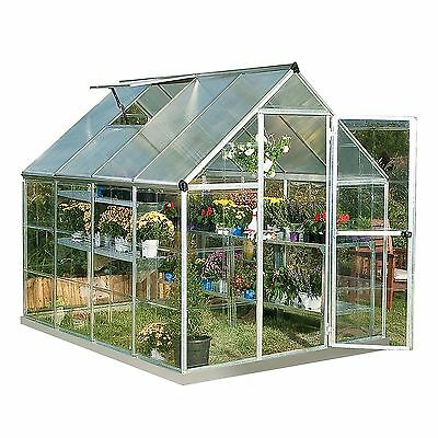 Palram Nature Hybrid Series Greenhouse 6' x 8' - Silver All Year Growing Garden
