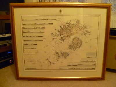 """Framed Limited Edition """"A Survey of the Scilly Isles by Graeme Spence 1792""""."""