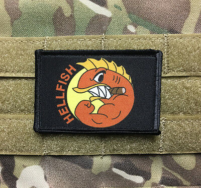 The Simpsons Fighting Hellfish Morale Patch Funny Tactical Military Army Flag