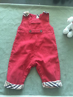 Burberry Dungarees Cotton red 3 / 6 months Boy Girl Nova Check