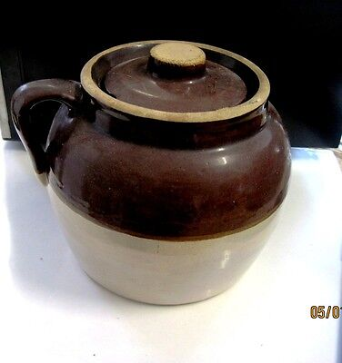 Vintage Brown Stone Cookie, Buscuit Jar made in Germany (Pottery)