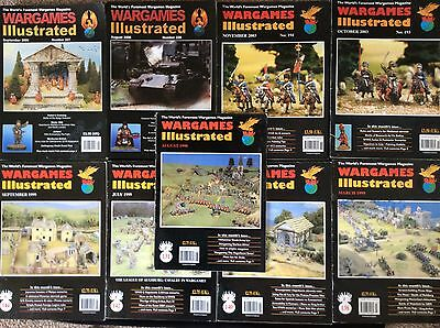 Collection of 9 Wargames Illustrated magazines