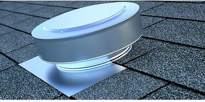 Home Building Round Top Attic Roof Vent 13x5-Inch Aluminum Metal Mill Finish