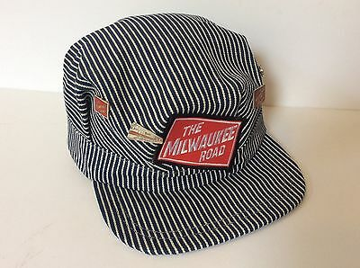 the Milwaukee Road Train Engineer's Hat Cap With 4 Hat Pins