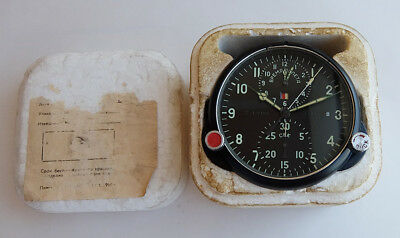 AChS-1M Russian Soviet USSR Military AirForce Aircraft Cockpit Clock #42497