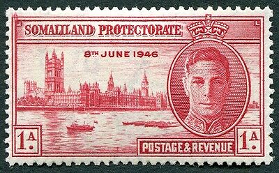 SOMALILAND PROTECTORATE 1946 1a SG117a P13.5 mint MH FG Victory Omnibus b #W34