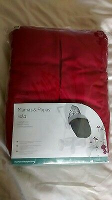 Mamas And Papas Red Sola Footmuff Liner Stroller