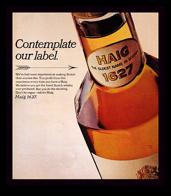 1969 Haig Scotch Whiskey Ad - Bottle - Retro Vintage Advertising Page - 1960s