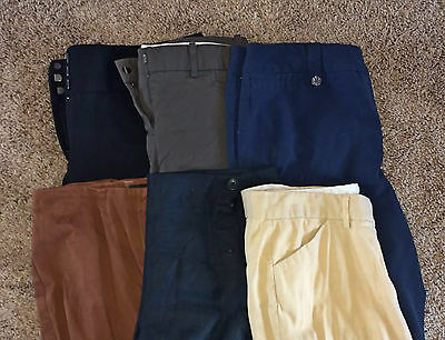 LOT C 6 Pairs Women's Designer Career Dress Pants Slacks Trousers 10 M MEDIUM