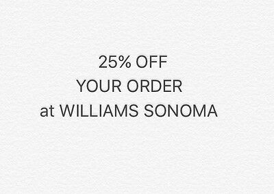 WILLIAMS SONOMA 20% Off Your Entire Order Coupon Code  exp. 7/2017