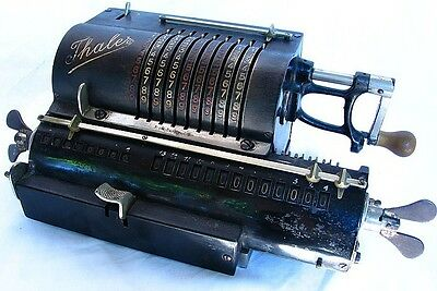 EARLY THALES PINWHEEL CALCULATOR *CAST IRON* GERMANY c.1915